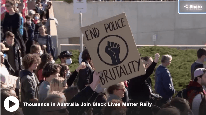 Protesters at Black Lives Matter rallies