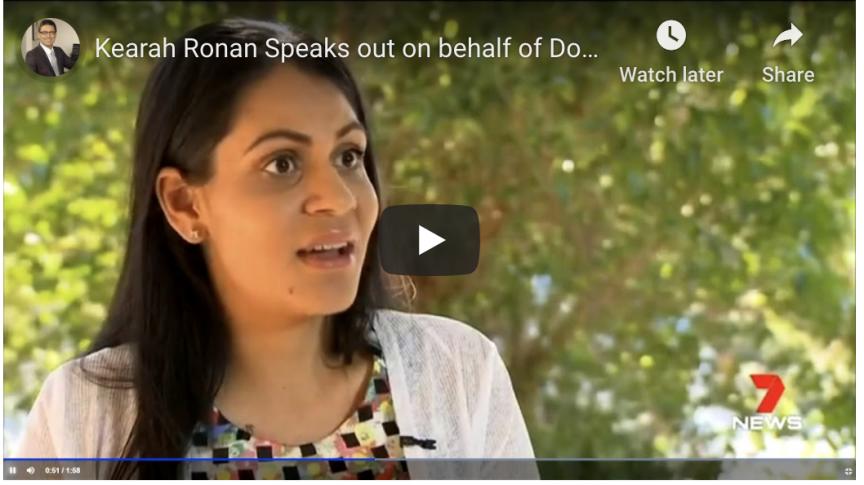 Keara Ronan speaks to news crews
